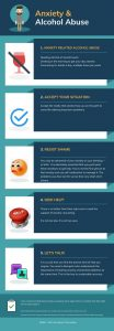 alcohol anxiety infographic